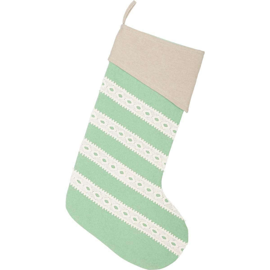Margot Mint Stocking 12x20 VHC Brands