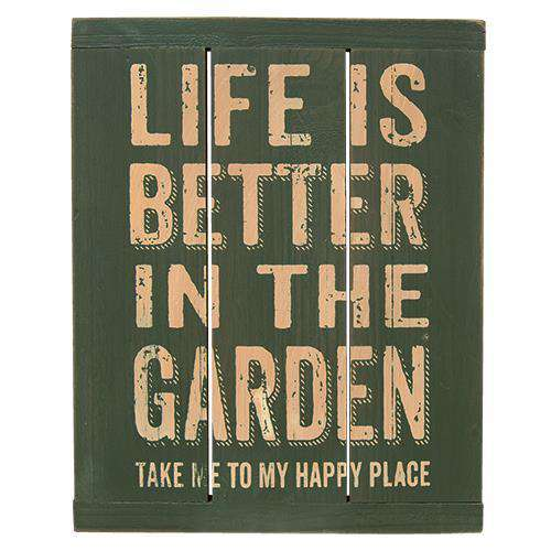 Life is Better Garden Sign HS Plates & Signs CWI+