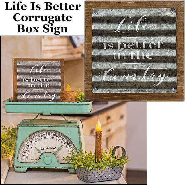 Life is Better in the Country Sign Farmhouse Decor CWI+
