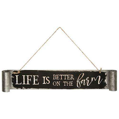 Life Is Better on the Farm Galvanized Metal Sign General CWI+