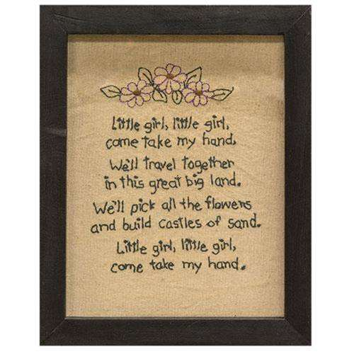 Little Girl Sampler Stitched Samplers CWI+