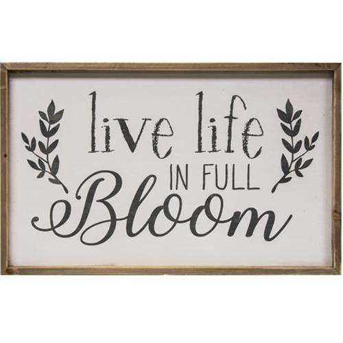Live Life in Full Bloom Framed Wall Sign Pictures & Signs CWI+