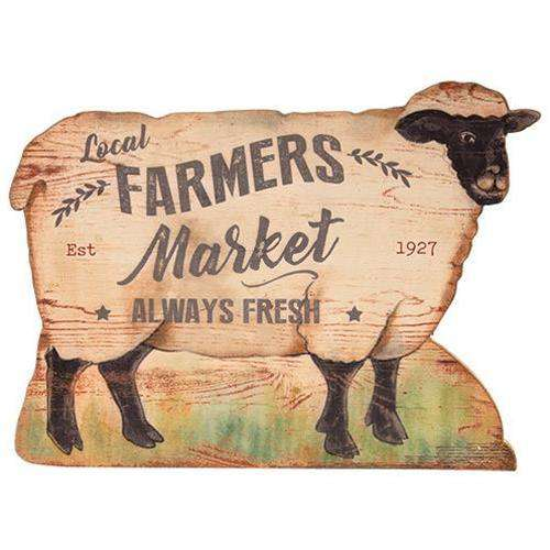 Local Farmers Market Sheep Wall Art Farmhouse Signs CWI+