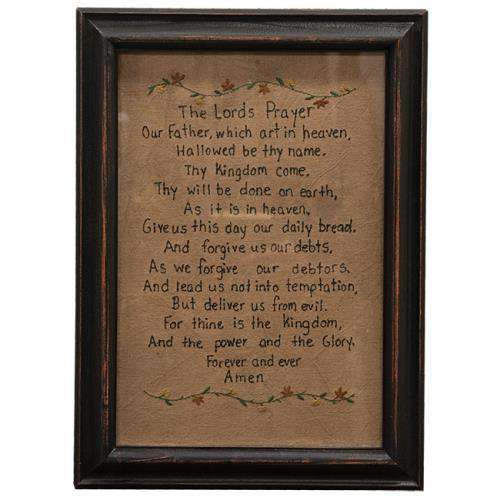 Lord's Prayer Stitchery Stitched Samplers CWI+