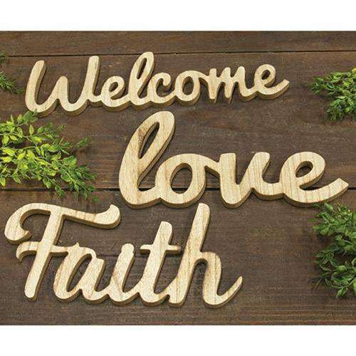 """Love"" Freestanding Word Pictures & Signs CWI+"
