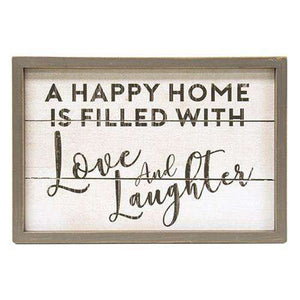Love & Laughter Wall Sign Pictures & Signs CWI+