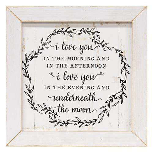 Love You In The Morning Framed Print General CWI+