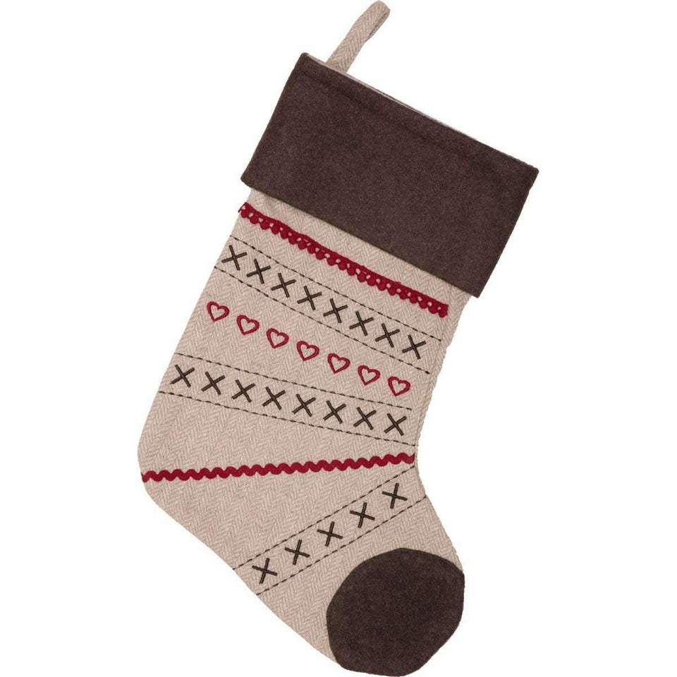 Merry Little Christmas Stocking 11x15 VHC Brands