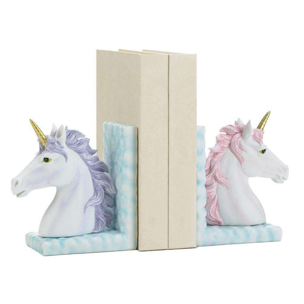 Magical Unicorn Bookends Dragon Crest