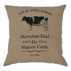 "Majestic Cattle Pillow, 16"" Pillows CWI+"