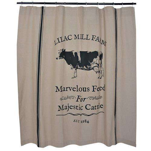 Majestic Cattle Shower Curtain Curtains CWI+
