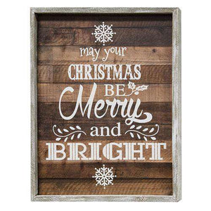 *Merry & Bright Framed Sign Christmas Signs CWI+