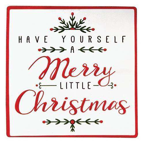 Merry Little Christmas Sign Winter Signs CWI Gifts
