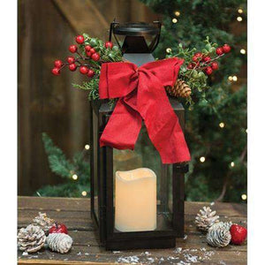 "Metal Christmas Lantern, 16"" Lighting CWI+"