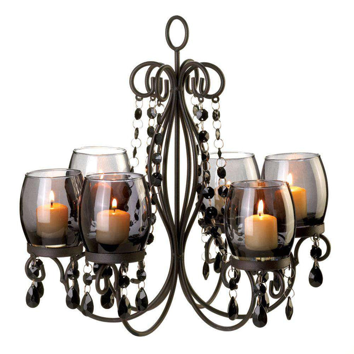 Midnight Elegance Candle Chandelier Gallery of Light