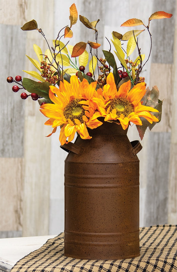 Rust & Black Finish Milk Can, 13""