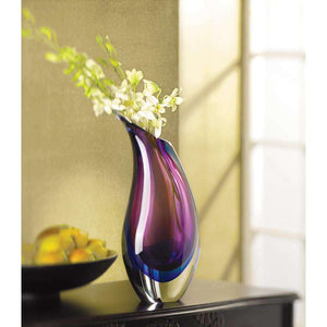 Modern Duo Tone Glass Vase