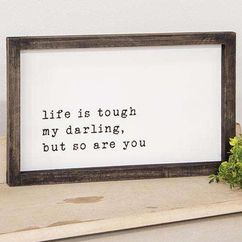My Darling Wood Framed Sign New In February CWI+