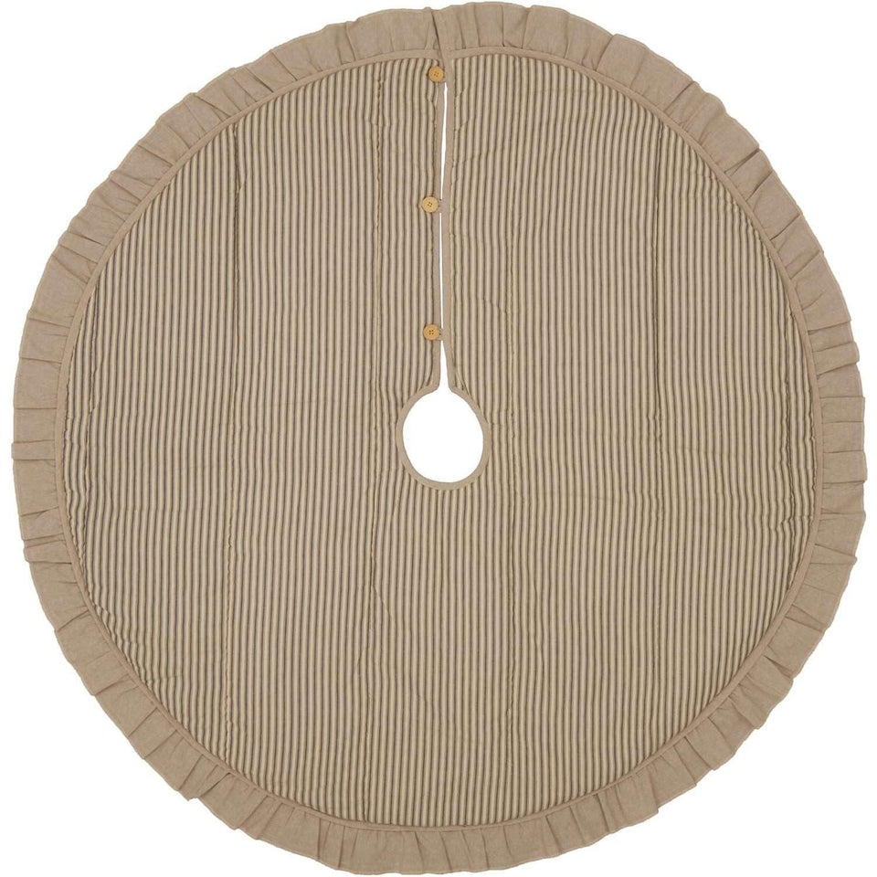 Sawyer Mill Charcoal Ticking Stripe Christmas Tree Skirt 55 VHC Brands