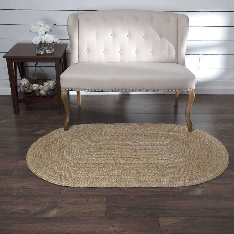 Natural Jute Rugs Oval VHC Brands Rugs VHC Brands