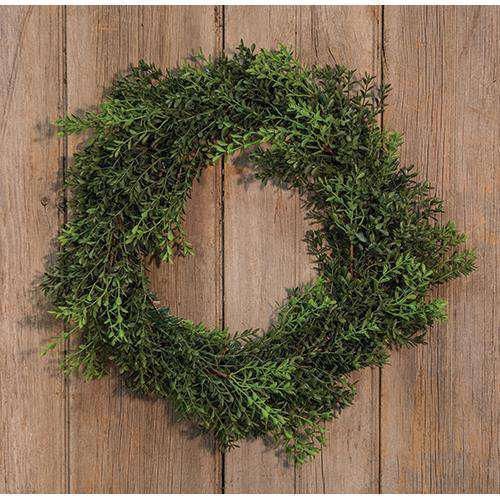 "New England Boxwood Wreath, 18"" Everyday CWI+"