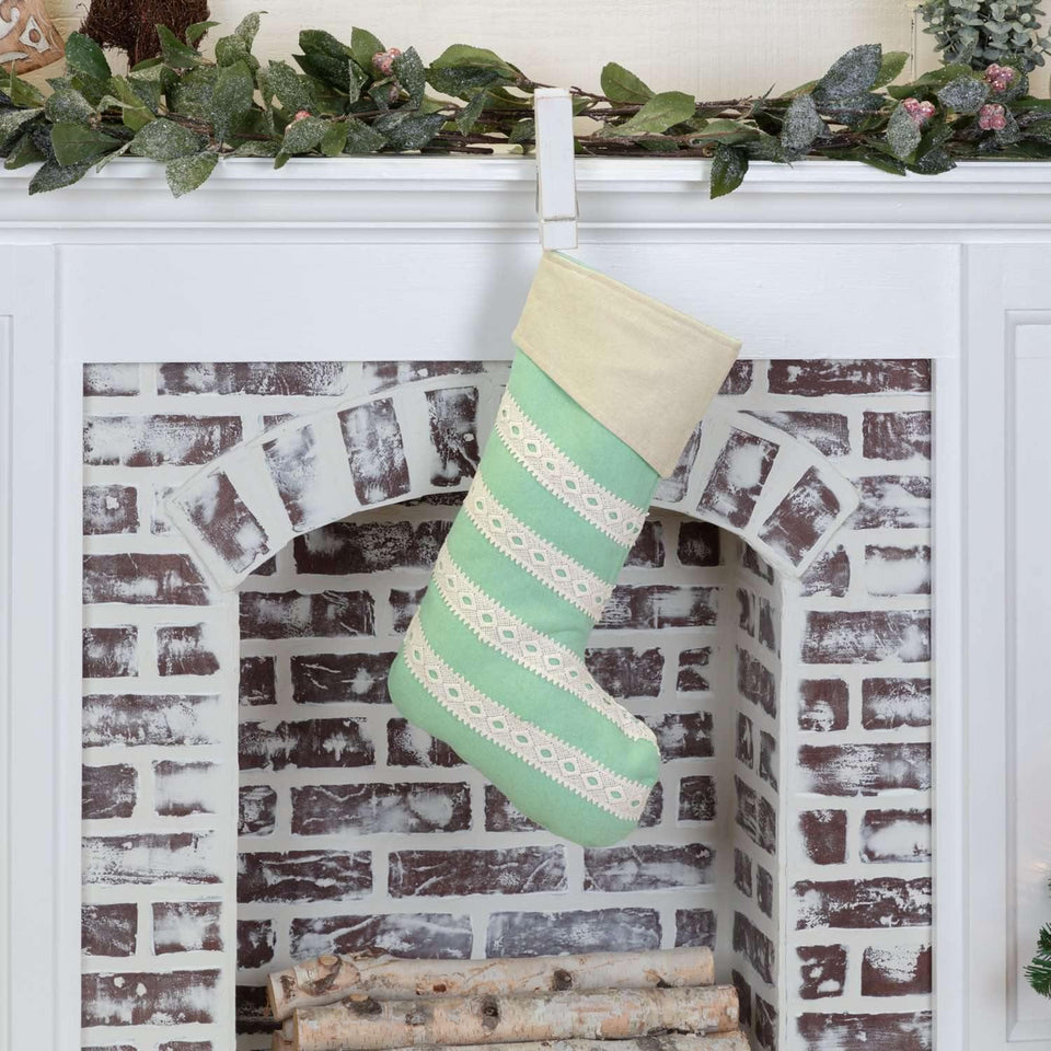 Margot Mint Stocking 12x20