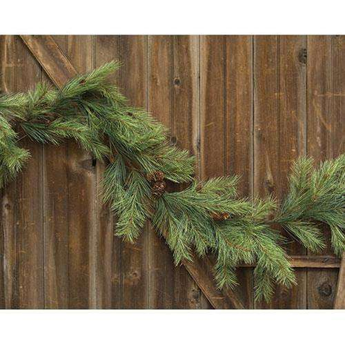 Northern Soft Pine Garland w/Cones, 9ft Garlands CWI+