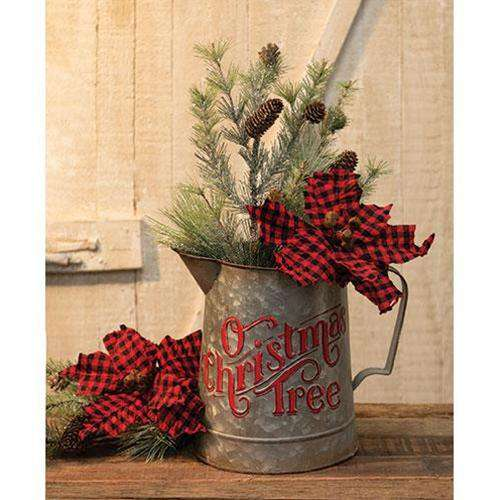 O Christmas Tree Metal Pitcher General CWI+