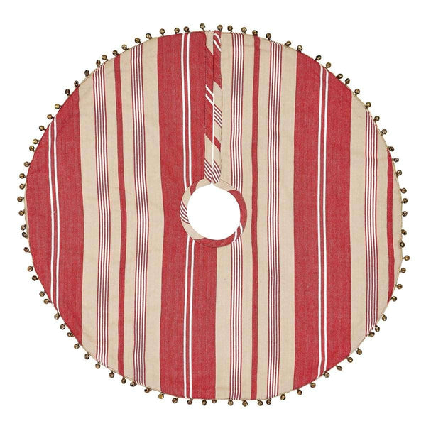 Vintage Stripe Mini Christmas Tree Skirt 21 VHC Brands