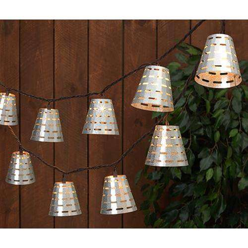 '+Olive Bucket Light Strand, 10 Count Patio/Vintage Lighting CWI+