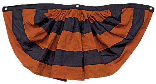 "Orange And Black Bunting 37"" Wall CWI+"