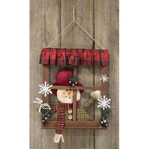 Peeking Snowman Window Wall CWI+