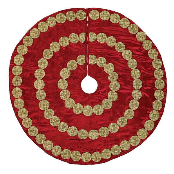 Memories Red Christmas Tree Skirt 48 VHC Brands