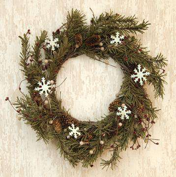 Pine & Snowflakes Wreath - 20
