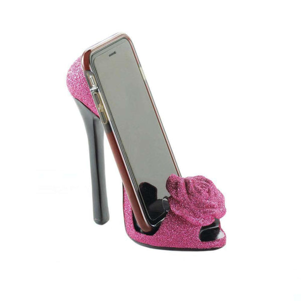 Pink Rose Shoe Phone Holder