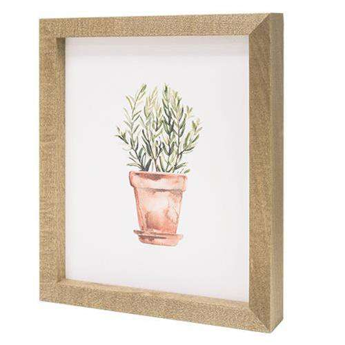 Potted Herb #6 Print Framed Prints CWI+