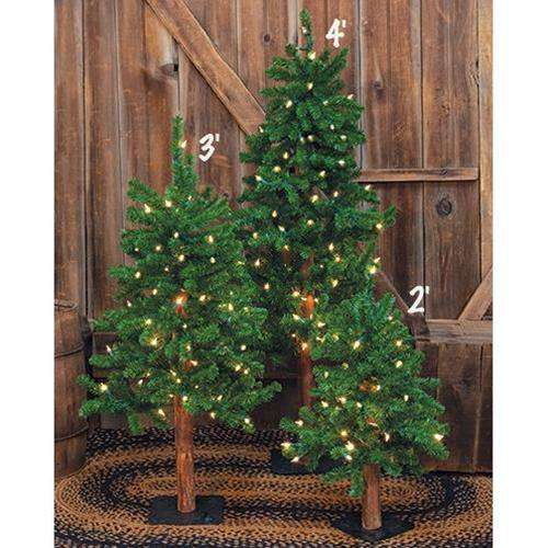 Pre-Lit Alpine Tree, 2ft Alpines CWI+