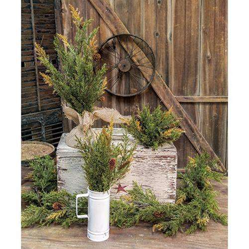 "Prickly Pine Tree, Moss Green 18"" General CWI+"