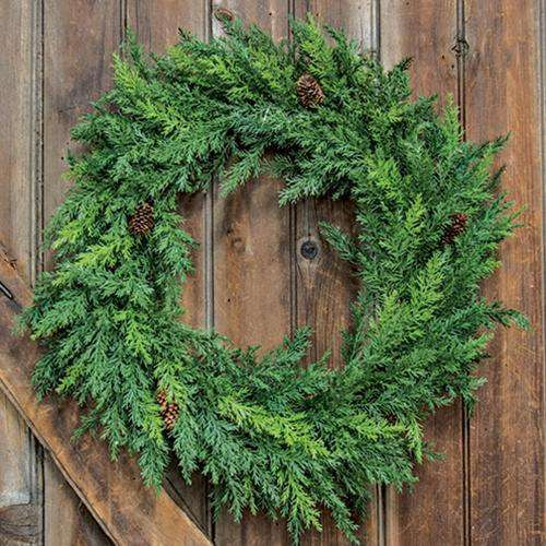 "Prickly Pine Wreath, Christmas Green, 20"" Wreaths CWI+"