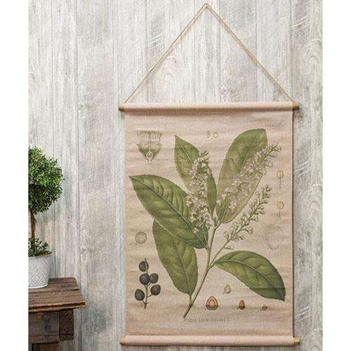 Prunus Lauro Botanical Canvas Wall Decor CWI+