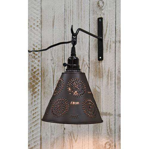 Punched Tin Shade w/Cord Lamps/Shades/Supplies CWI+