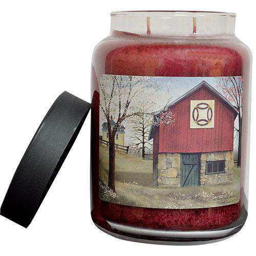Quilt Barn Jar Candle, 26oz Candles and Scents CWI+