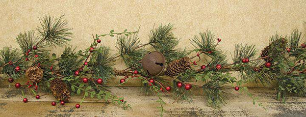 Red Berry Pine Garland - 4ft Garlands CWI+