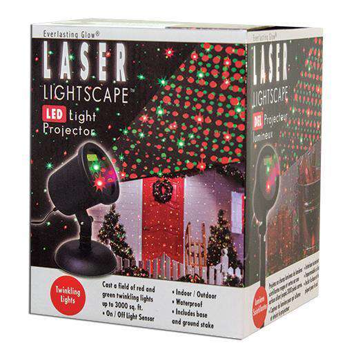 *Red & Green LED Light Projector Holiday Lights CWI+