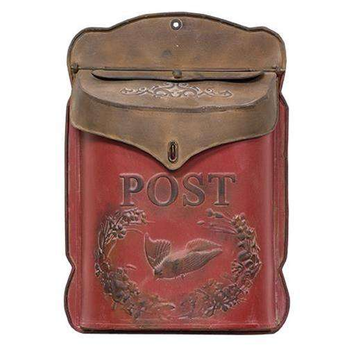 Red & Rust Post Box Mail and Post Boxes CWI+