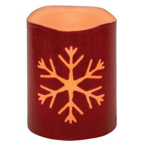 Red Snowflake LED Pillar New In August CWI+