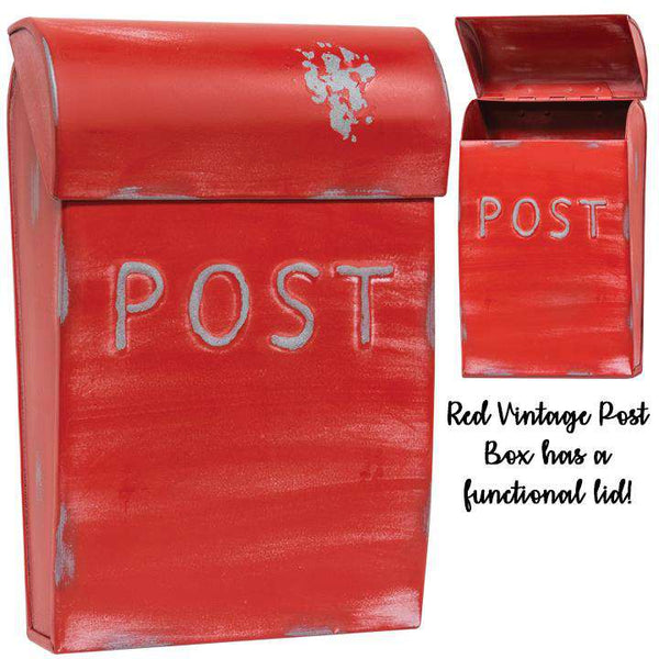 Red Vintage Post Box Mail and Post Boxes CWI+