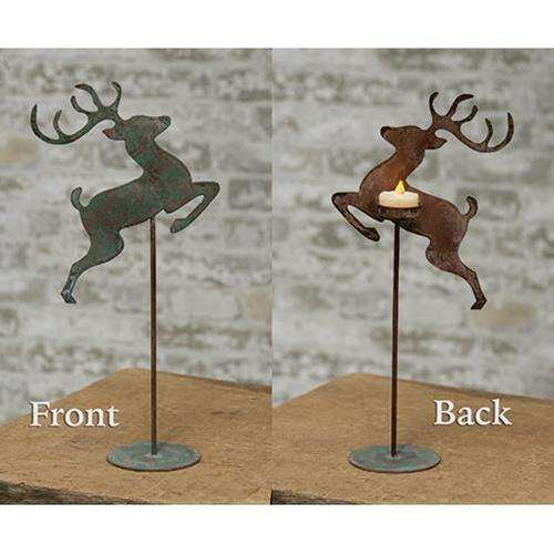 *Reindeer Tealight Pedestal Tealight Holders CWI+