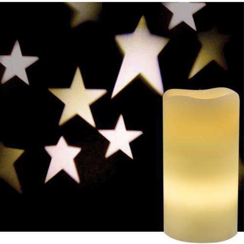 Remote Control Country Star Projection Pillar Pillars/Tealights/Votives CWI Gifts