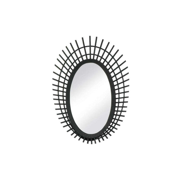 Riki Small Black Bamboo Mirror